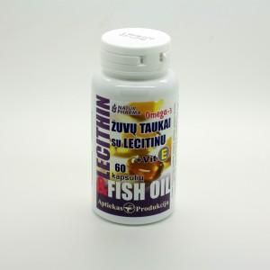 Žuvų taukai Omega-3 su lecitinu