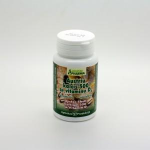 Austrių kalcis 500 su vitaminu D3
